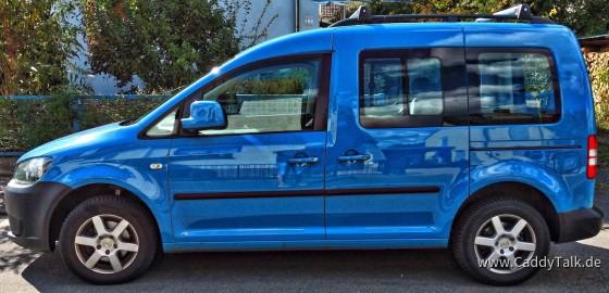 VW Caddy blau